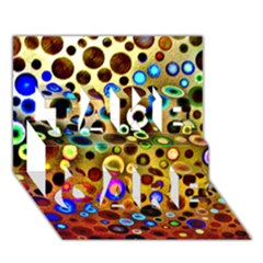Colourful Circles Pattern Take Care 3d Greeting Card (7x5)  by Costasonlineshop