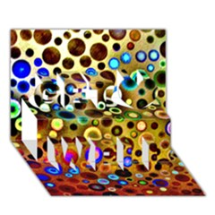 Colourful Circles Pattern Get Well 3d Greeting Card (7x5)  by Costasonlineshop