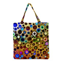 Colourful Circles Pattern Grocery Tote Bags