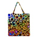 Colourful Circles Pattern Grocery Tote Bags View1