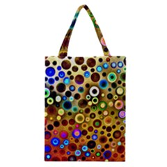 Colourful Circles Pattern Classic Tote Bags by Costasonlineshop