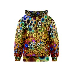 Colourful Circles Pattern Kids Zipper Hoodies by Costasonlineshop