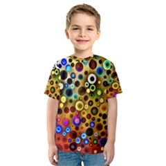 Colourful Circles Pattern Kid s Sport Mesh Tees