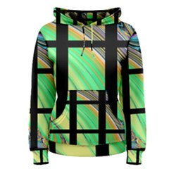 Black Window With Colorful Tiles Women s Pullover Hoodies