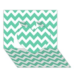 Chevron Pattern Gifts Heart 3d Greeting Card (7x5)