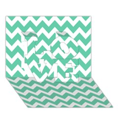 Chevron Pattern Gifts Love 3d Greeting Card (7x5)