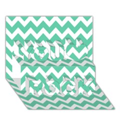 Chevron Pattern Gifts You Rock 3d Greeting Card (7x5)