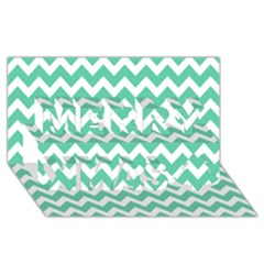 Chevron Pattern Gifts Merry Xmas 3d Greeting Card (8x4)