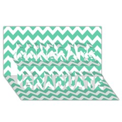 Chevron Pattern Gifts Congrats Graduate 3d Greeting Card (8x4)