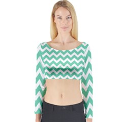 Chevron Pattern Gifts Long Sleeve Crop Top