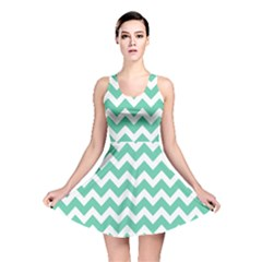 Chevron Pattern Gifts Reversible Skater Dresses