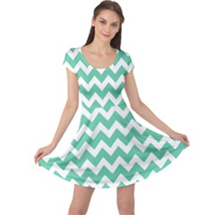 Chevron Pattern Gifts Cap Sleeve Dresses