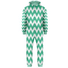 Chevron Pattern Gifts Hooded Jumpsuit (men)