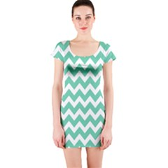 Chevron Pattern Gifts Short Sleeve Bodycon Dresses