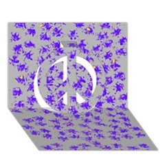 Purple Pattern Peace Sign 3d Greeting Card (7x5)  by JDDesigns