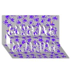 Purple Pattern Congrats Graduate 3d Greeting Card (8x4)  by JDDesigns