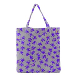 Purple Pattern Grocery Tote Bags