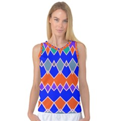 Rhombus Chains Women s Basketball Tank Top by LalyLauraFLM