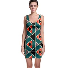 Triangles In Retro Colors Pattern Bodycon Dress by LalyLauraFLM