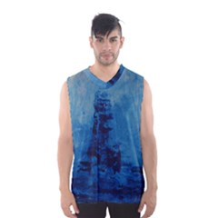 Lost At Sea Men s Basketball Tank Top by timelessartoncanvas