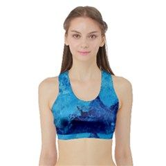 Waves Women s Sports Bra With Border by timelessartoncanvas