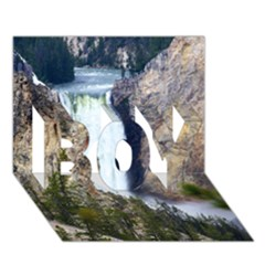 Yellowstone Waterfall Boy 3d Greeting Card (7x5) by trendistuff