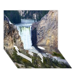 Yellowstone Waterfall Love Bottom 3d Greeting Card (7x5)  by trendistuff