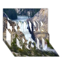 Yellowstone Waterfall Thank You 3d Greeting Card (7x5)  by trendistuff