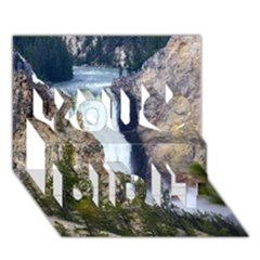 Yellowstone Waterfall You Did It 3d Greeting Card (7x5) by trendistuff