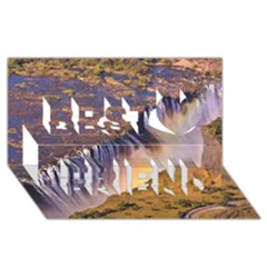 Waterfall Africa Zambia Best Friends 3d Greeting Card (8x4)  by trendistuff