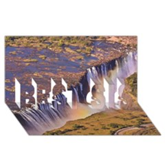 Waterfall Africa Zambia Best Sis 3d Greeting Card (8x4)  by trendistuff