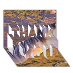Waterfall Africa Zambia Thank You 3d Greeting Card (7x5)  by trendistuff
