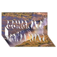 Waterfall Africa Zambia Congrats Graduate 3d Greeting Card (8x4)  by trendistuff