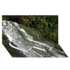 Water Overflow Twin Heart Bottom 3d Greeting Card (8x4)  by trendistuff