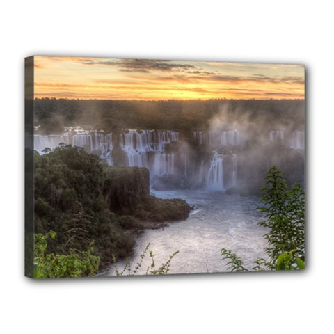 Iguazu Falls Canvas 16  X 12  by trendistuff
