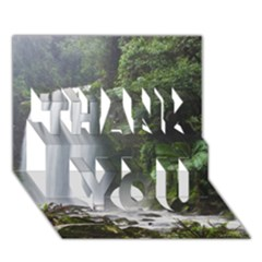Hopetoun Falls Thank You 3d Greeting Card (7x5)  by trendistuff
