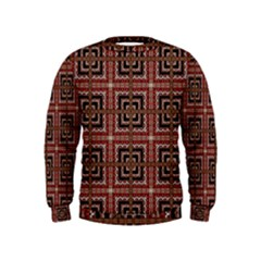 Check Ornate Pattern Boys  Sweatshirts
