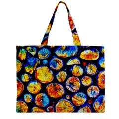 Woodpile Abstract Zipper Tiny Tote Bags by Costasonlineshop