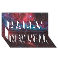 Vela Supernova Happy New Year 3d Greeting Card (8x4)
