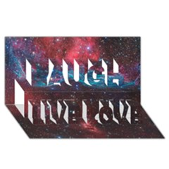 Vela Supernova Laugh Live Love 3d Greeting Card (8x4)