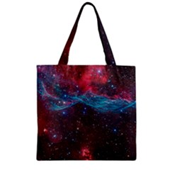 Vela Supernova Zipper Grocery Tote Bags