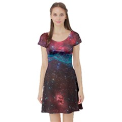 Vela Supernova Short Sleeve Skater Dresses
