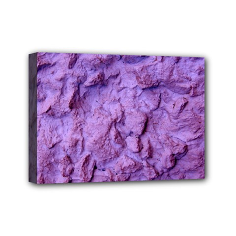 Purple Wall Background Mini Canvas 7  X 5  by Costasonlineshop
