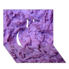 Purple Wall Background Apple 3d Greeting Card (7x5)  by Costasonlineshop