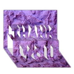 Purple Wall Background Thank You 3d Greeting Card (7x5)  by Costasonlineshop