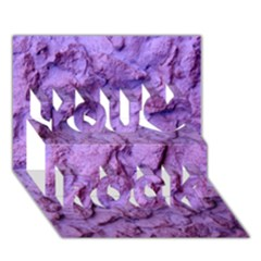 Purple Wall Background You Rock 3d Greeting Card (7x5)  by Costasonlineshop