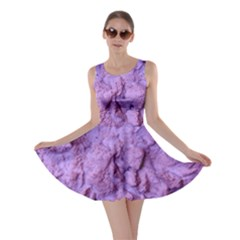 Purple Wall Background Skater Dresses