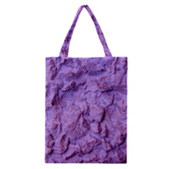 Purple Wall Background Classic Tote Bags by Costasonlineshop