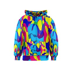 Colorful Chaos Kids Zipper Hoodie