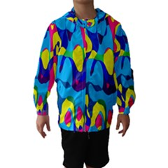 Colorful Chaos Hooded Wind Breaker (kids) by LalyLauraFLM